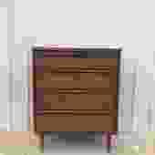 Mid Century Modern Highboy Dresser by Bassett