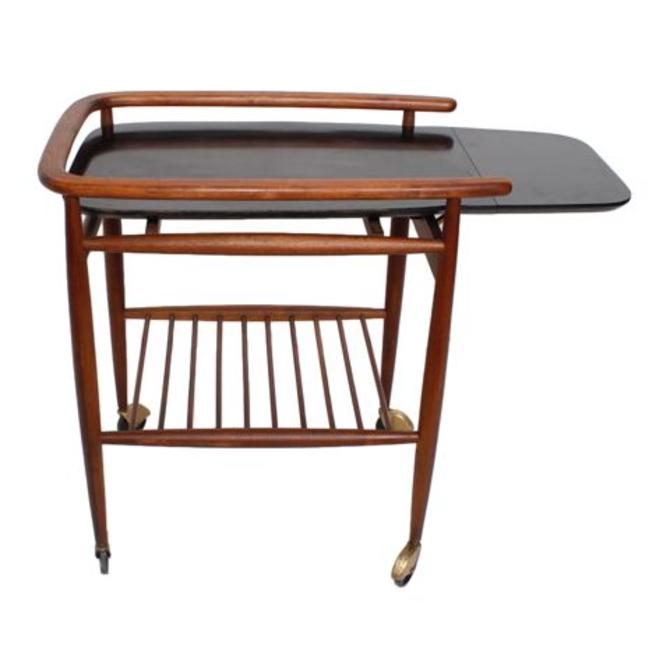 Tall & Expandable Mid Century Bar / Serving Cart