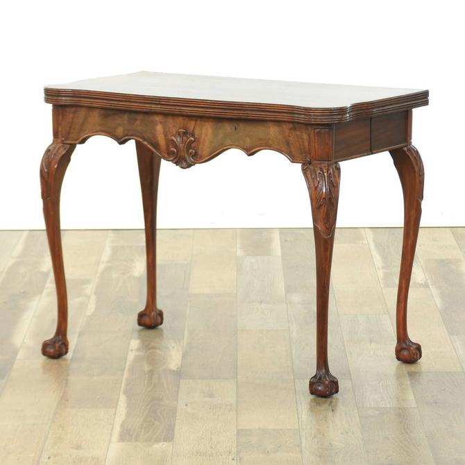 Chippendale Claw & Ball Foot Flip Top Console Table