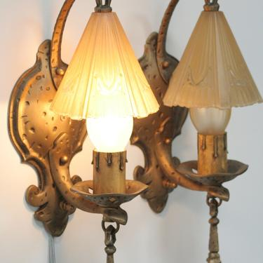Bar Harbor Wall Sconces by Lincoln #2108 by vintagefilament