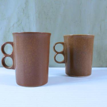 Pair of Bennington Potters Trigger Mugs Designed by David Gil - Bennington Vermont by MostlyMidModern