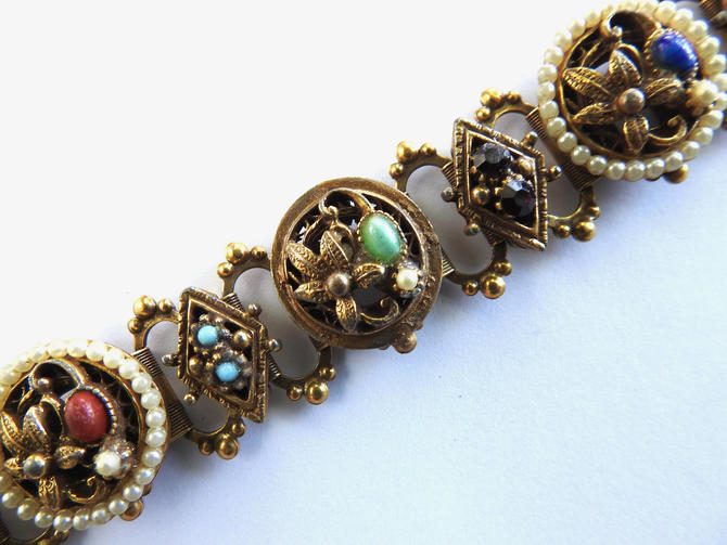 1960s Victorian Revival Book Chain Bracelet by LegendaryBeast