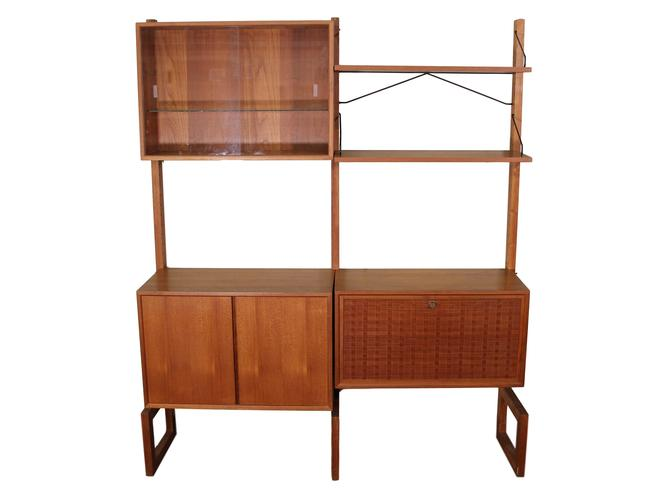 Mid Century Free Standing Cado Shelving System/Wall Unit by Cadovius by RetroPassion21