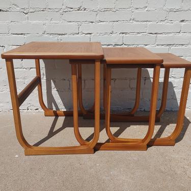 Mid Century Modern Teak Nesting Tables by VintageVaultTulsa