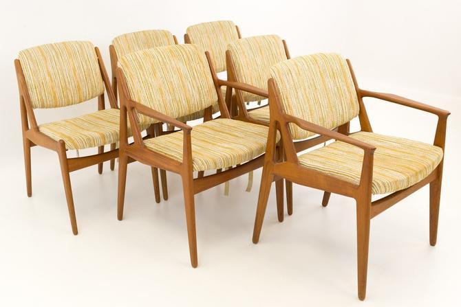 Arne Vodder Elle and Ella Mid Century Danish Teak Dining Chairs - Set of 6 - mcm by ModernHill