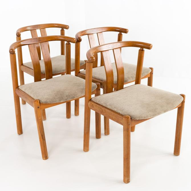 Boltinge Stolefabrik Mid Century Danish Teak Dining Chairs - Set of 4 - mcm by ModernHill