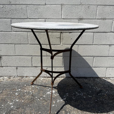 Vintage Patio Table Dining Indoor Outdoor Mid Century Modern Iron Furniture Hollywood Regency Metal Balcony Garden Porch Pool Furniture by DejaVuDecors