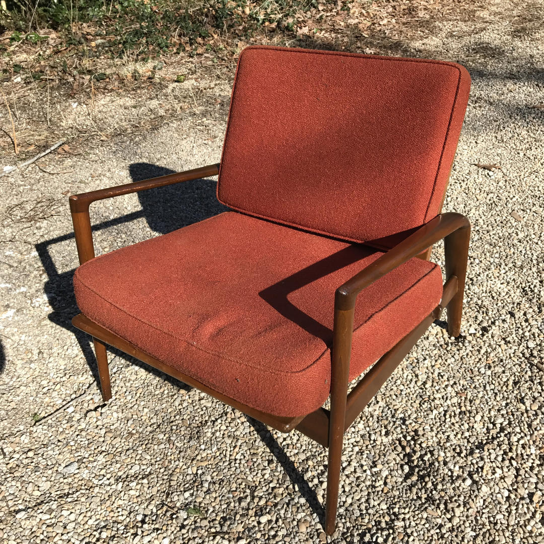 Classic Danish Breakdown Lounge Chair Stained Baltic Birch