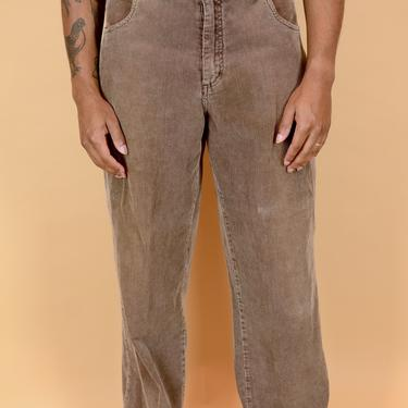 Vintage Brown Corduroy Skater Pants Trousers Lee Dungarees 32x30 33x30 34x30 by MAWSUPPLY