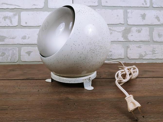 Mid Century Afco-Lite White Sparkle/Glitter Spot Light/ Art Light/ Picture Light Desk Lamp by RedsRustyRelics