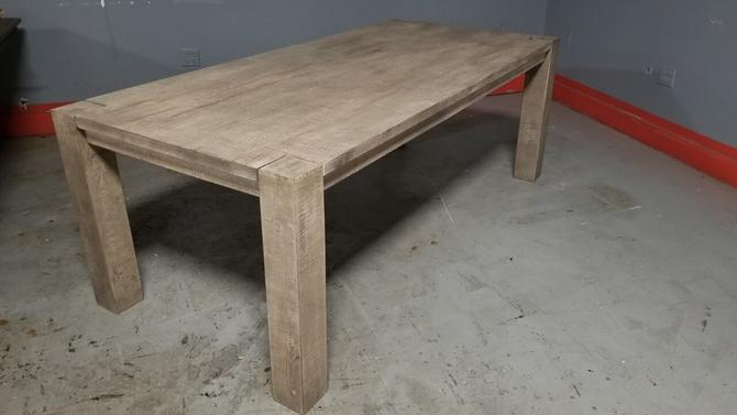 Restoration Hardware Reclaimed Russian Oak Parsons Rectangular Dining Table From Vintage Grind House Of Chicago Il Attic