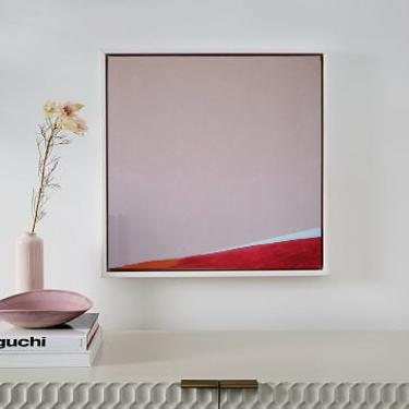 """New 36""""x36"""" Pinks Canvas Painting Minimal Wall Art, Modern Home Decor, Abstract Minimalist Original Contemporary Artwork Commission Art by ArtbyDinaD"""