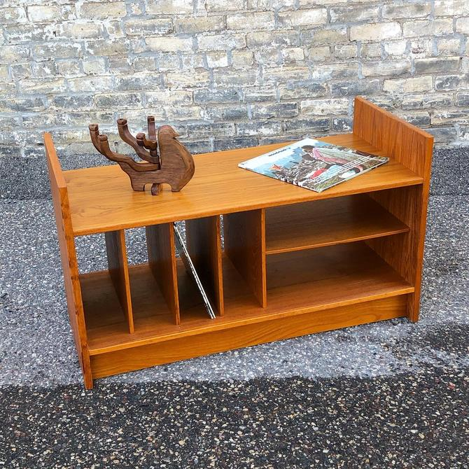 Danish Teak Stereo Bench