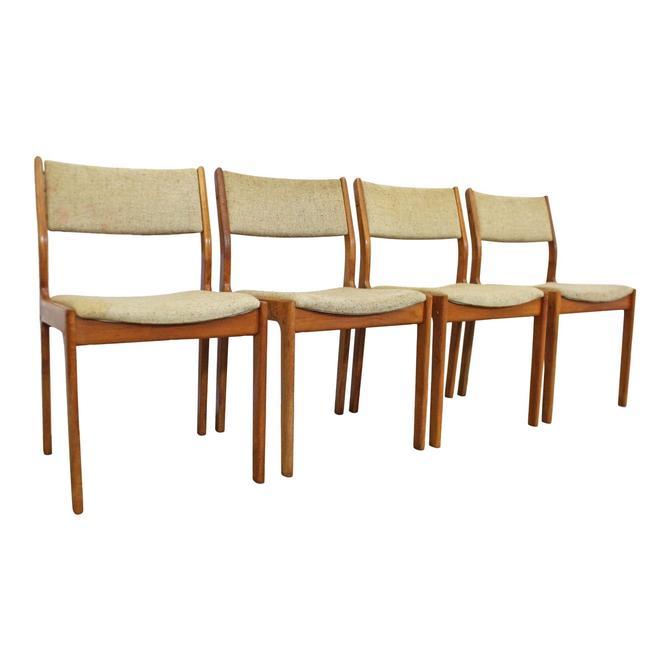 Incredible Danish Modern Teak Dining Chairs Set Of 4 Mid Century Short Links Chair Design For Home Short Linksinfo
