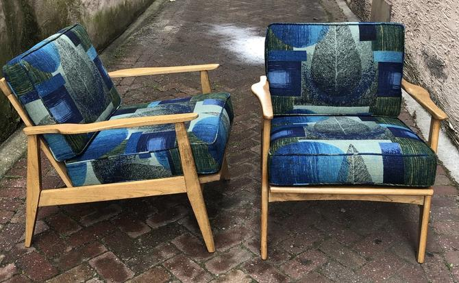Oak Frame Armchairs (pair)