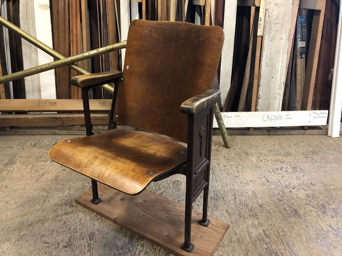 Vintage theater seat from Stewart Middle School