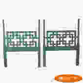 Pair of Twin Fretwork Headboards With Columns
