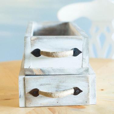 Wood Box Centerpiece, Rustic Wood Box, Wood Box Handmade, Wood Planter Box, Wedding Centerpiece, Wood Flower Box, Wood Centerpiece Decor by ArcherHomeDesigns