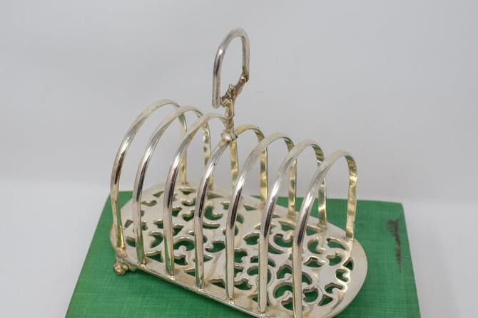 Footed Ornate Silver Toast Rack by CapitolVintageCharm