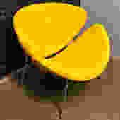 Adorable Orange Slice Chair By Pierre Paulin