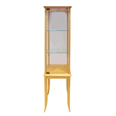 Parzinger Petit Walnut and Glass Display Cabinet 1960s