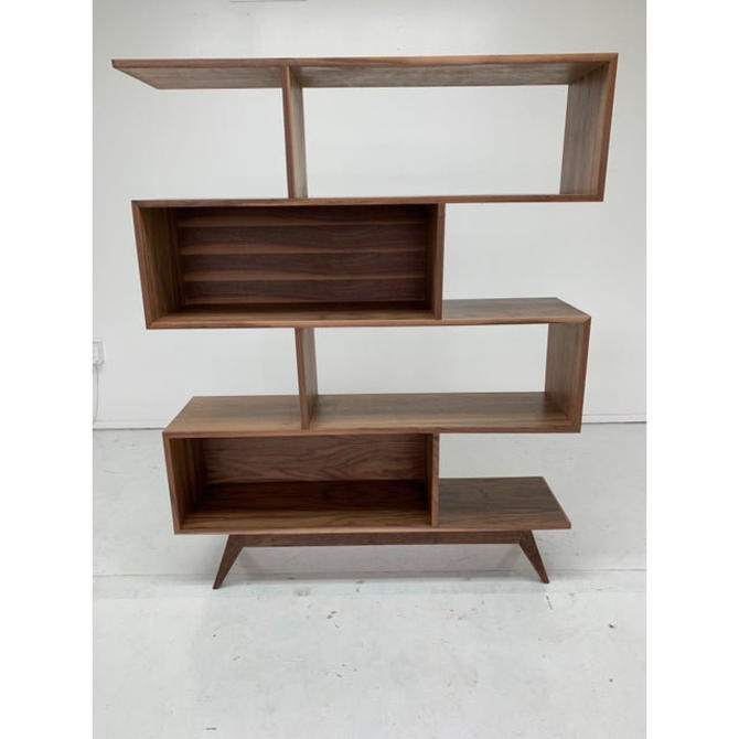 Contemporary Staggered Wall Bookcase by VintageOnPoint