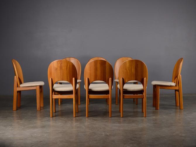 Amazing 8 Vintage Danish Modern Dining Chairs Teak Glostrup By Madsenmodern Download Free Architecture Designs Viewormadebymaigaardcom