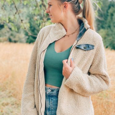 Pendleton Fuzzy Sherpa Jacket / Size Medium by MadroneClothing