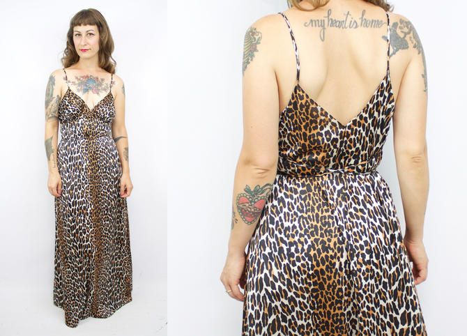 Vintage 70s Vanity Fair Animal Print Nightgown / 1970's Floor ...