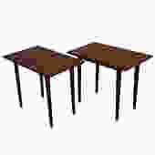 Pair of Danish Modern Teak End Tables