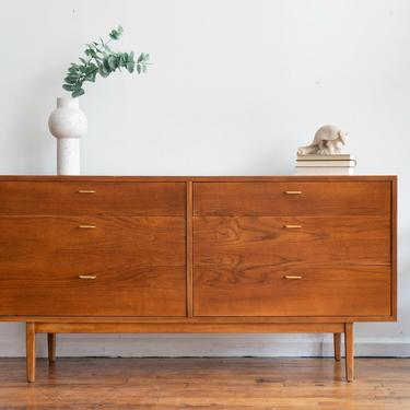 Vintage MCM Danish Teak Lowboy Dresser / Credenza by blinkmodern