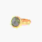 Gold Solitaire Ring, Gem Solitaire Ring, Gold Ring, Gold Ring for Women, Delicate Ring, Gemstone Ring, Bezel Ring, Gray Ring, Classic Ring by OrlySegal