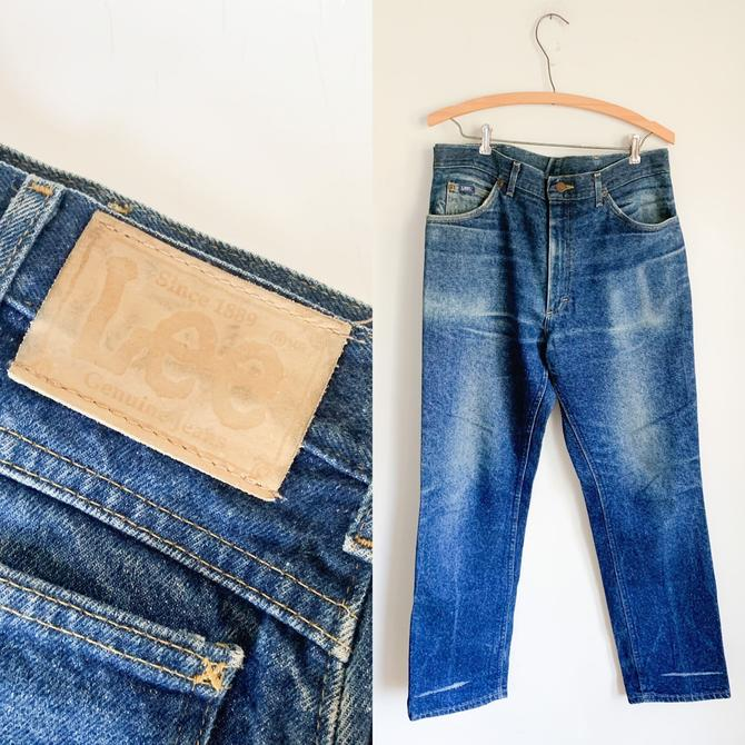 Vintage 1980s Faded Lee Jeans / 34/30 by MsTips