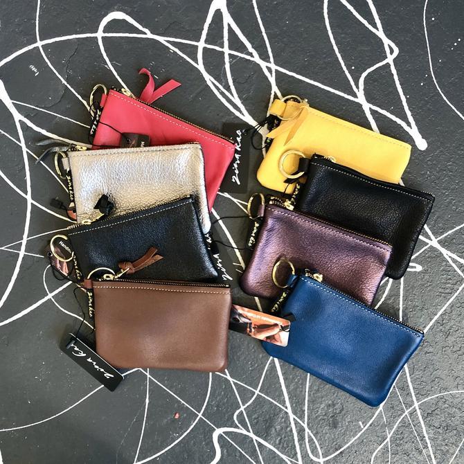 Soft Leather Zipper Pouch - Mini