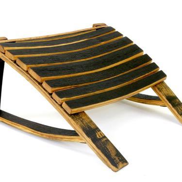 Bourbon Barrel Ottoman - Footrest - Whiskey Barrel Furniture by HungarianWorkshop