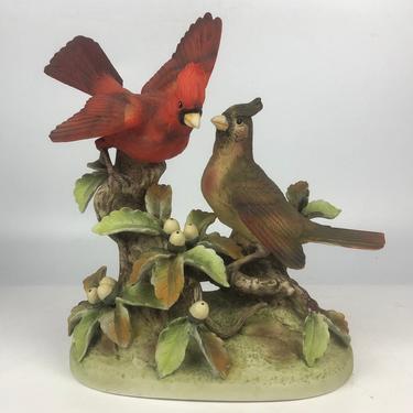 Handpainted Ceramic Cardinal Figurine Andrea by Sadek by secondhandstory