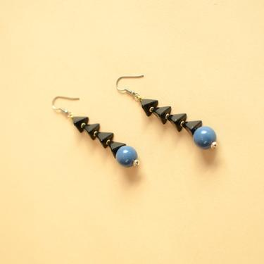 Vintage Stacked Geometric Avant Garde Geometric Drop Dangle Earrings by MAWSUPPLY