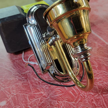 Brass and Silver Sconce