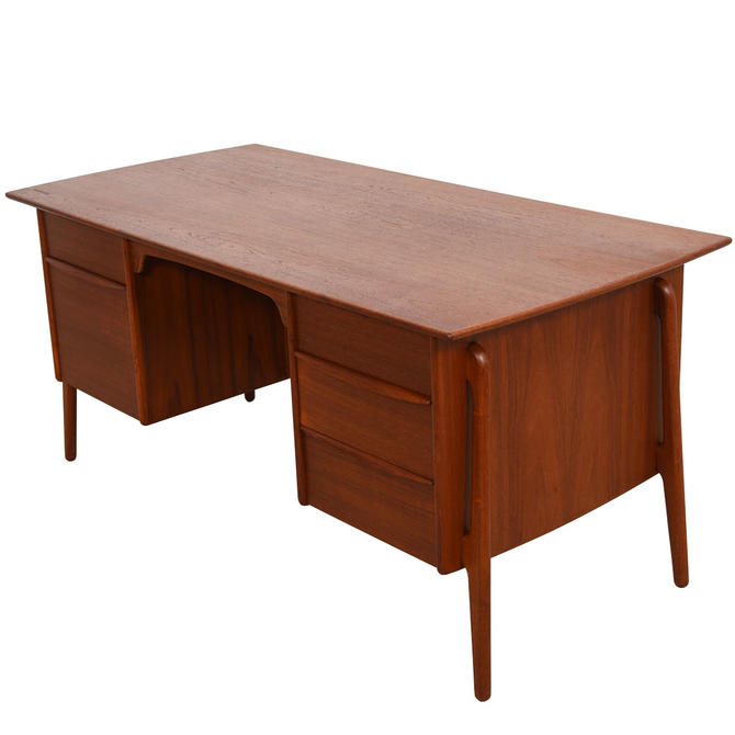 Mid-Sized Danish Modern Teak Desk