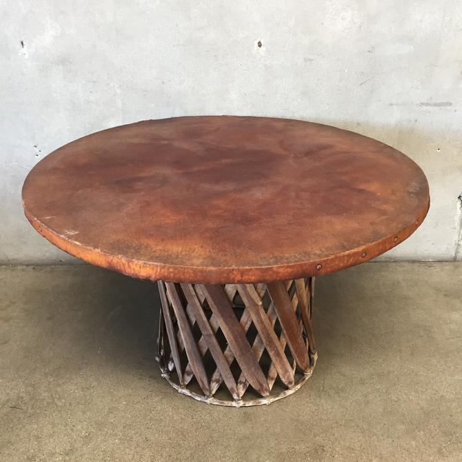 Vintage Equipales Table with Pig Skin Top