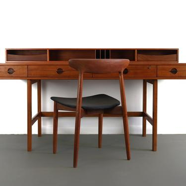 Vintage Danish Teak Desk by Jens Quistgaard for Lovig Dansk, 1960s by ABTModern