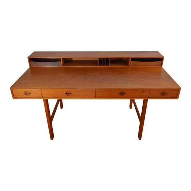 1965 Lovig 'Flip-Top' Danish Modern Teak Expanding Partner's Desk