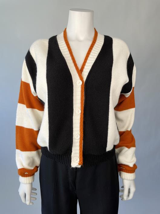 Cropped Caramel Striped Sweater