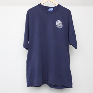 vintage DALLAS Cowboys short sleeve 1990s logo helmet TROY Aikman era SUPER bowl t-shirt -- men's size xxl by CairoVintage