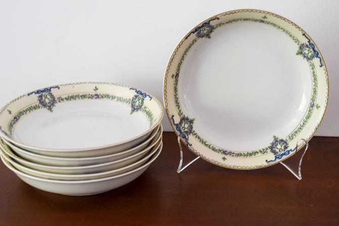 Set of 6 Vintage Noritake China Bowls by CapitolVintageCharm