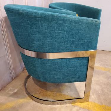 Marquis Seating Teal Barrel Chairs