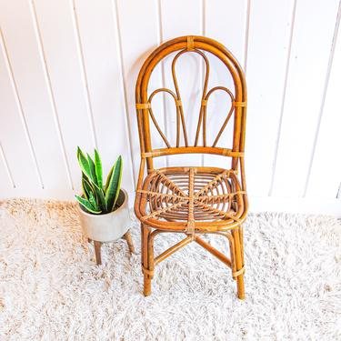 Franco Albini style Midcentury Bamboo Rattan Chair by PortlandRevibe