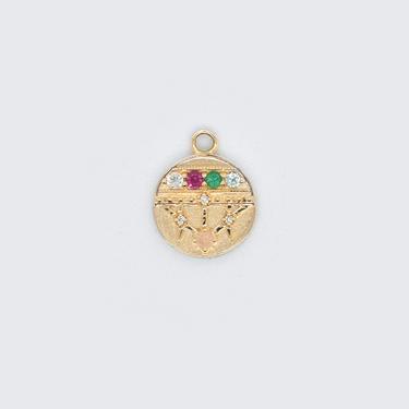 """Small Lace Shield Medallion - """"Dream"""" - 5 Stones"""