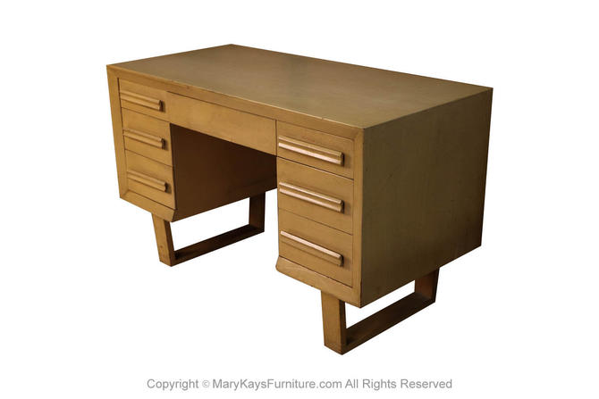Mid Century Modern Double Pedestal Desk by Marykaysfurniture