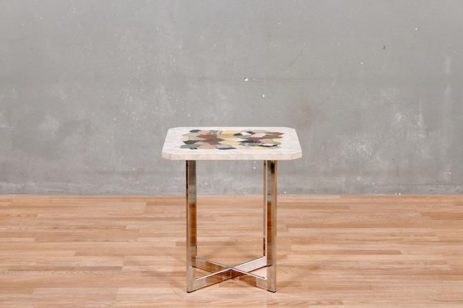 Marble Mosaic Side Table
